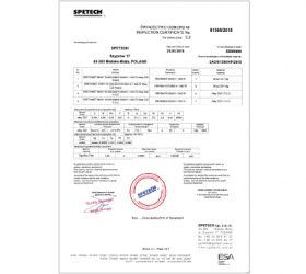Inspection certificate 3 2 | Spetech